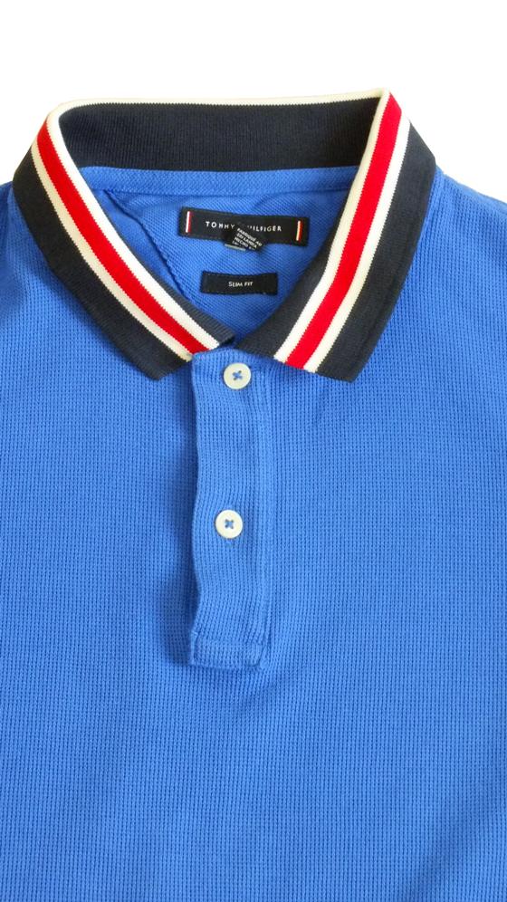 92f511e7cc Tommy Hilfiger : Tommy Hilfiger férfi galléros póló, kék